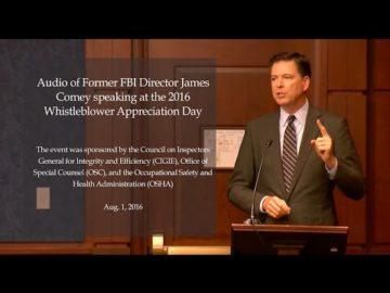 Former FBI Director James Comey's Remarks on Whistleblower Day 2016